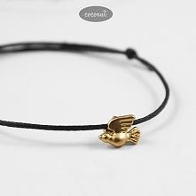 Gołąbek - złocona bransoletka z zawieszką