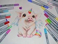 Słodka świnka :3 lighanesartblog - instagram. polecam :)