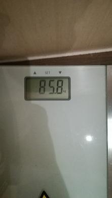 Może waga trochę wzrosła po...
