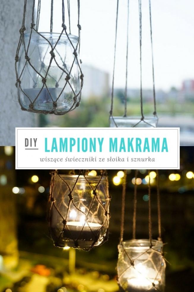 DIY Wiszące lampiony makrama ze słoika i sznurka • origamifrog.pl blog diy