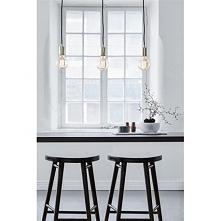 SKY 106335 Markslojd lampa wisząca potrójna złota   SKY to seria nowoczesnych lamp wiszących wyróżniających się minimalizmem i prostą formą. Lampa dostępna w kolorze: złotym ora...