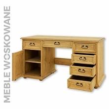 biurko woskowane z litego d...