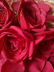 róża z materiału / bukiet