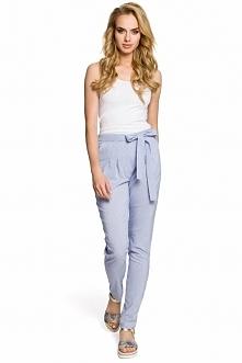 Moe M318 spodnie niebieskie Rewelacyjne spodnie, fason typu chino, w talii oz...