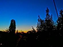 wieczorne niebo, widok z okna :)