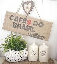 obraz z worków po kawie