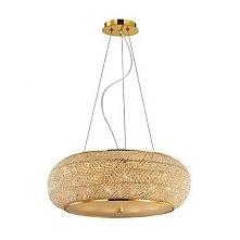 PASHA SP10 55cm IDEAL LUX LAMPA WISZACA 082257 ZŁOTO    Ekskluzywna lampa wisząca składająca się ze stalowej ramy oraz ciętych luksusowych kryształków sprawiających, że produkt ...