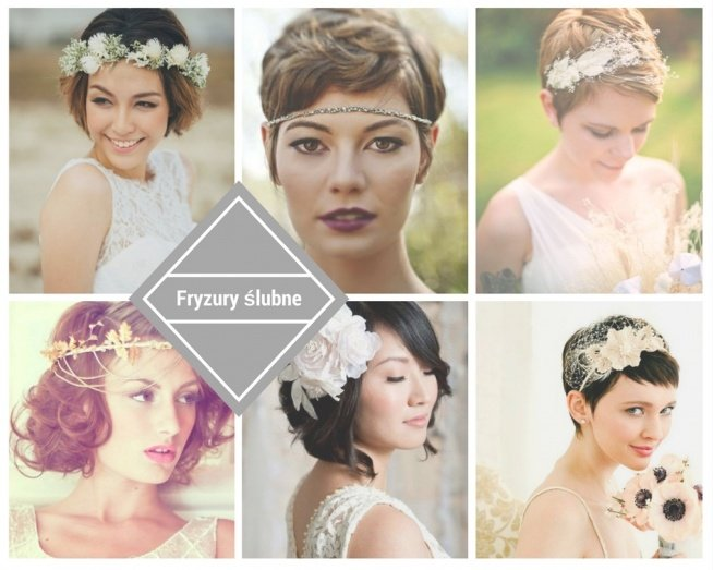 Fryzury ślubne Krótkie Włosy Więcej Na Feszyncom Na ślubne
