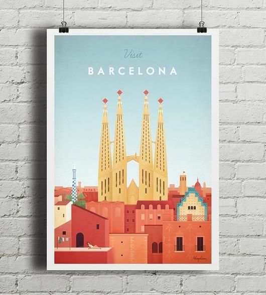 Barcelona - vintage plakat