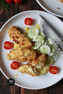 Pieczone polędwiczki z kurczaka w chrupiącej panierce