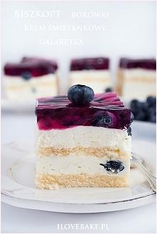 Ciasto z borówkami i galaretką