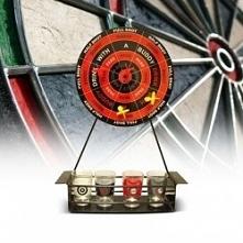 Imprezowy dart- Gra w rzutki z kieliszkami i poleceniami umieszczonymi na tar...