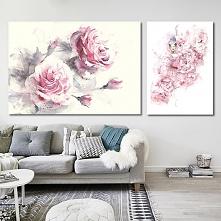Obrazy na płótnie Rose - 2 sztuki