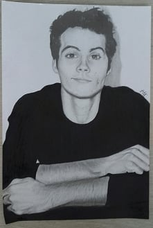 Mój rysunek Dylana O'Briena. Jeśli się Wam podoba to zapraszam na ig: @a...