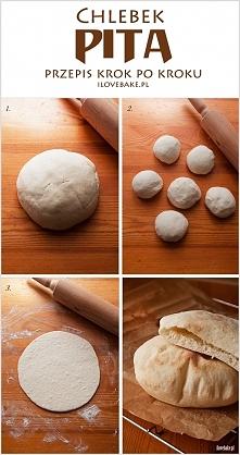 Chlebek pita – przepis krok...
