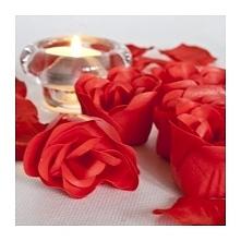 Różane Impresje- Prezentowy zestaw pachnących mydełek i płatków róż dla kobie...
