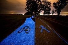Świecąca droga rowerowa w Lidzbarku Warmińskim :)