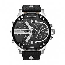 Diesel DZ7313 męski zegarek dużych gabarytów wykonany ze stali na skórzanym p...