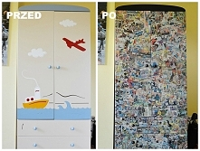 Metamorfoza szafy przedszkolaka w nadającą się dla starszego dziecka. Na blog...