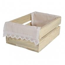 Skrzynka z drewna na pieczywo z serwetką (BOX23/18/10)