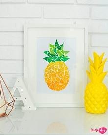Jak zrobić obrazek DIY z ananasem? zobacz na twoje…