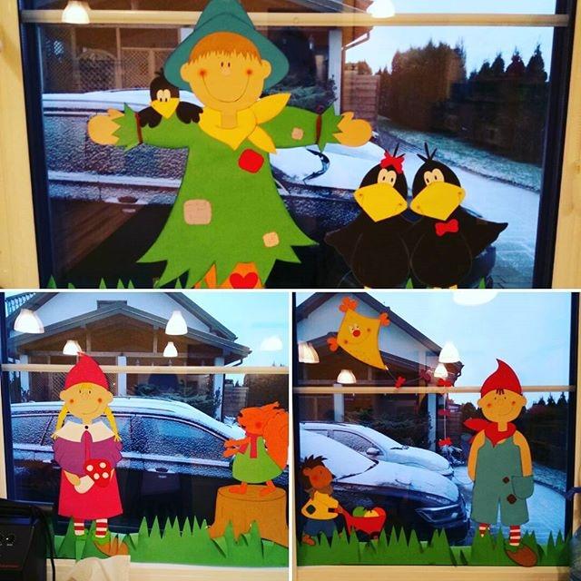 Tak wyglądała nasza ubiegłoroczna jesienna dekoracja okienna!