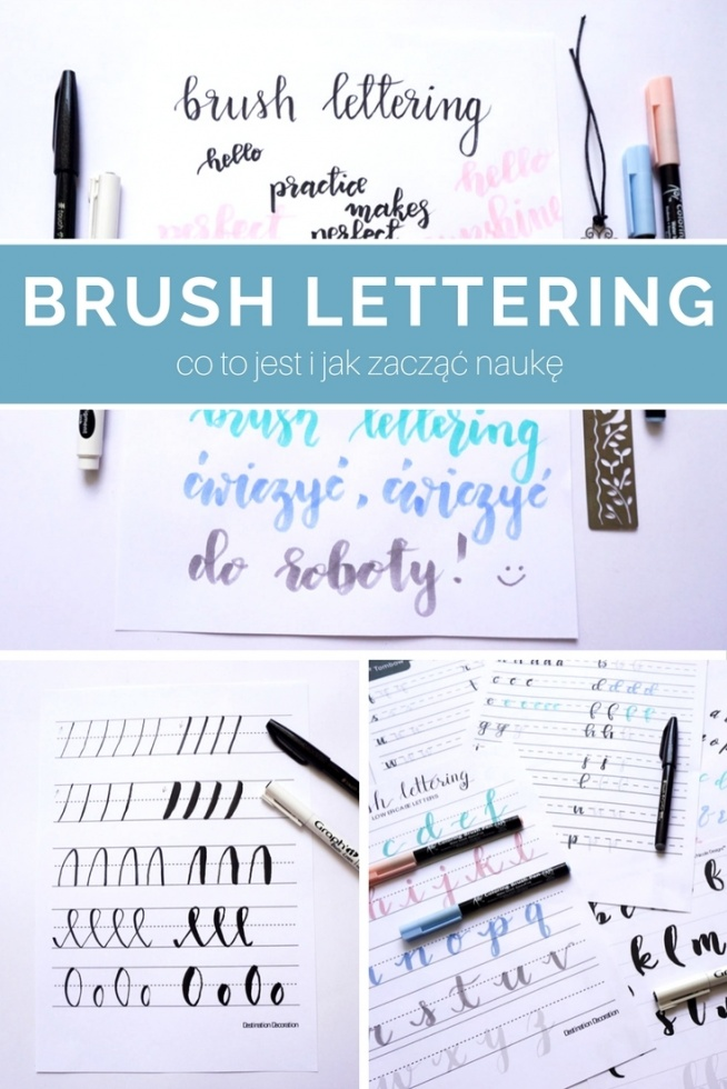 Brush lettering - co to jest i jak zacząć naukę  Nowoczesna kaligrafia, hand lettering Wybór brush pena • origamifrog.pl
