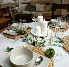 Pięknie udekorowany stół :)