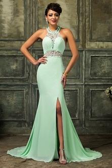 Długa suknia wieczorowa. Suknia na studniówkę, wesele, karnawał. Suknia o kro...