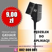 Global Keratin pędzelek do aplikacji z grzebieniem application brush comb cena 9zł sklep warszawa
