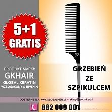 Global Keratin GK Hair grzebień ze szpikulcem fine tooth comb cena 15zł sklep warszawa