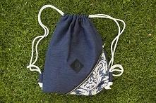 Własnoręcznie uszyty plecako-worek. Po kliknięciu w zdjęcie przekierowanie do...