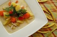 Tradycyjna zupa z fasolki. Najlepsza!!! Link z przepisem w komentarzu.