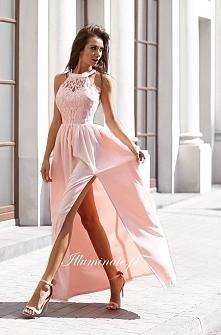 Zjawiskowa długa suknia z k...