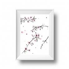 Kwiaty wiśni,  30x21 cm, A4