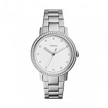 Fossil ES4287 kobiecy zegarek wykonany ze stali szlachetnej zdobiony cyrkonia...
