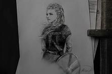 Lagertha, Wikingowie. Rysow...