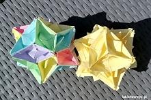 Filmik instruktażowy ukazujący proces pdodukcji przepięknej kuli origami, zbu...