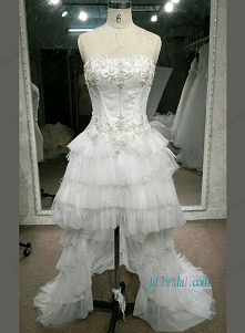 Wysoka niska suknia ślubna