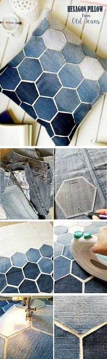 Stare jeansy i stara podusz...