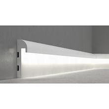 QL015r Mardom. Biała, gładka listwa oświetleniowa, z możliwością zastosowania...
