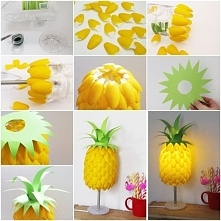lampka ananas - diy ;)