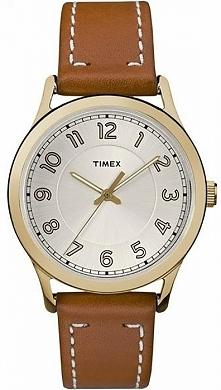 Timex TW2R23000 kobiecy zegarek w stylu klasycznym wykonany ze stali w kolorz...