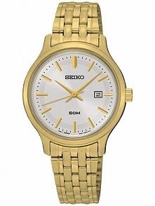 Seiko SUR792P1 kobiecy zegarek ze stali szlachetnej złoconej technologią PVD ...