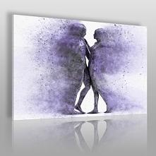 Metafizyka miłości we fioletach - nowoczesny obraz na płótnie