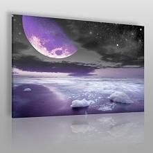 Nocne halo - nowoczesny obraz do sypialni