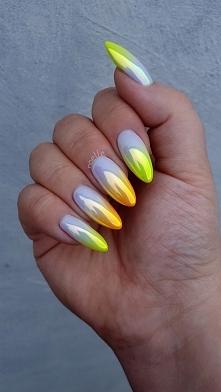 ombre neon, crystal mirror