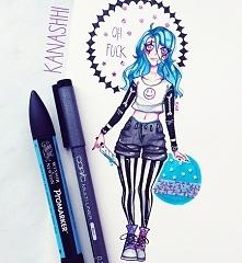 kocham rysować niebieskie w...