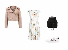 Stylizacja z sukienką w kwi...