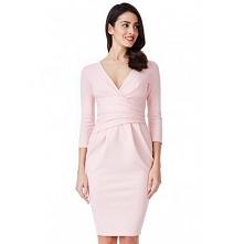 Pastelowa różowa sukienka m...